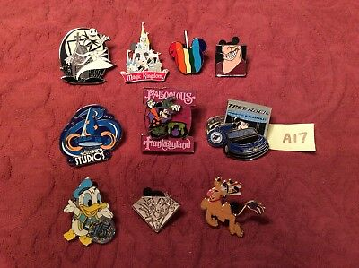 Disney Lot of 10 Hidden Mickey Cast Lanyard Trading Trader Pins Quick Ship A17