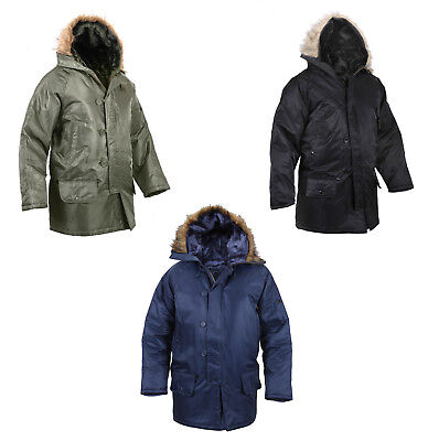 N-3B Look SNORKEL PARKA Army Navy Marine Corps USAF USMC Winter Snow Jacket Coat