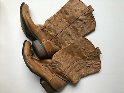 BROWN COCONUTS WOMENS Cowgirl Cowboy Country Western Boots Tan sz 9 5