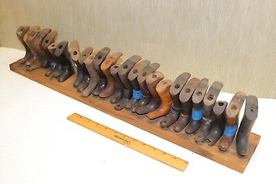 Vintage Hardware store display of 25 Wood Plane Handles