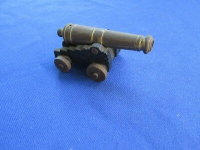 Vintage OX MFCO Cast Iron and Brass Toy Cannon
