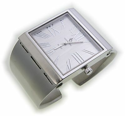Exclusive Women's Watch Silver Plated Quartz Analog Clasp Watch Matte Clip