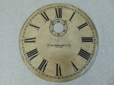 Old Antique Self Winding Clock Co Electric Wall Dial Clock Parts