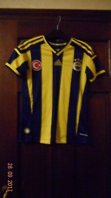 Boys Football Shirt - Fenerbache - Height 176Cm - Home - Adidas - Blue/yellow