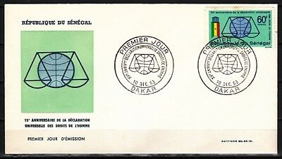 Senegal, Scott cat. 228. Human Rights issue. First day cover
