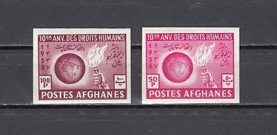Afghanistan, Scott cat. 466-467. Human Rights, IMPERF issue