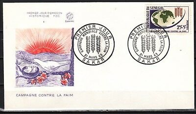 Senegal, Scott cat. B17. Freedom from Hunger, F.A.O. First day cover