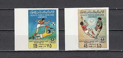 Libya, Scott cat. 827-828. IMPERF, Volleyball & Soccer issue