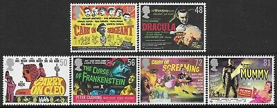 """Gb 2008. """"poster For Carry On & Hammer Horror Films"""". 1 Set Of 6 Stamps. Mnh."""