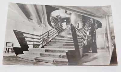 Vintage Holland America Line S.S. Nieuw Amsterdam First Class Staircase Postcard