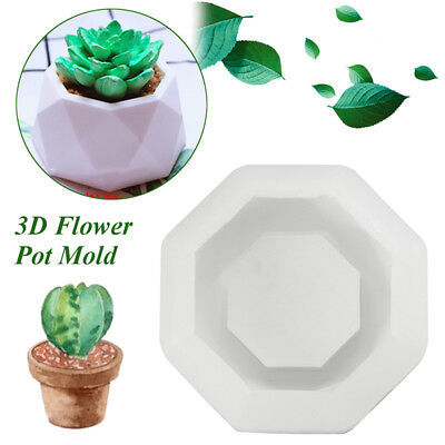 Silicone Flower Pot Mould Geometric Pot Handmade Chocolate