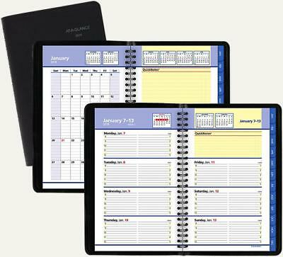 "2019 At-A-Glance Weekly Appointment Book QuickNotes 4-7/8"" x 8""  Black 76-02-05"