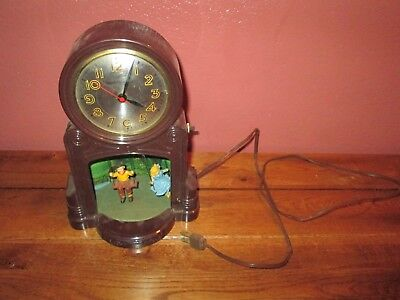 Vintage Mastercrafters Swinging Playmates Clock for parts or repair Model 551
