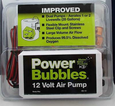 Marine Metal B15 Power Bubbles Air Pump Aerator 22337
