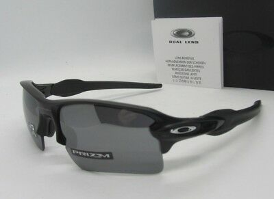 "OAKLEY matte black ""PRIZM"" POLARIZED FLAK 2.0 XL OO9188-96 sunglasses NEW IN BOX"