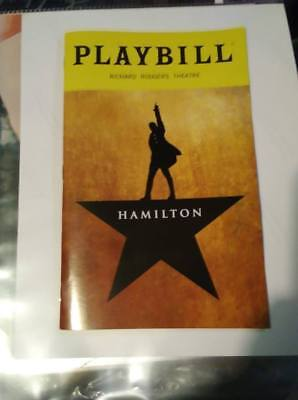 HAMILTON-(LIN MANUEL) (Broadway) PLAYBILL -OCT 2018 EDITION -FREE SHIPPING!!!!