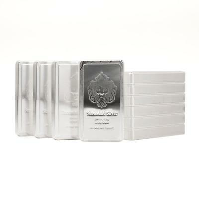 10 x 10oz Scottsdale STACKER® Silver Bars 100 Troy oz .999 Silver Bullion #A183