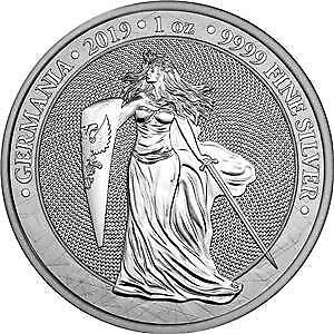 Germania 2019 5 Mark GERMANIA 1 Oz 999 Silver Coin