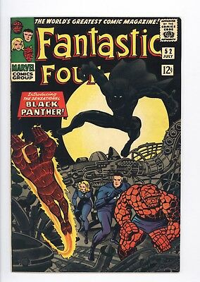 Fantastic Four #52 Vol 1 Near Perfect High Grade 1st App of the Black Panther