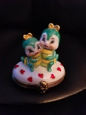 Limoges France Trinket Box Pierre Caterpillars Hearts 195 Of 200 Made