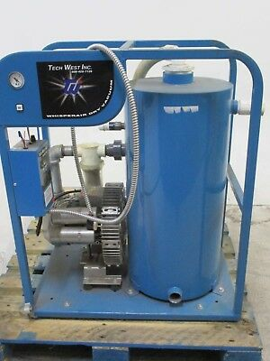 Used TechWest VPD2-5024 Dental Vacuum Pump System for Operatory Suction