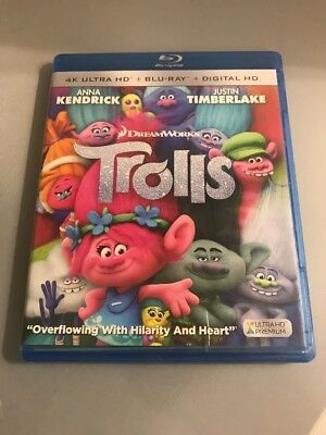 Trolls (4K Ultra HD Blu-ray, 2017, 2-Disc Set, Includes Digital Copy 4K Ultra HD