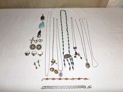 Sterling Silver .925 Lot of Assorted Jewelry  All Wearable 8 oz.