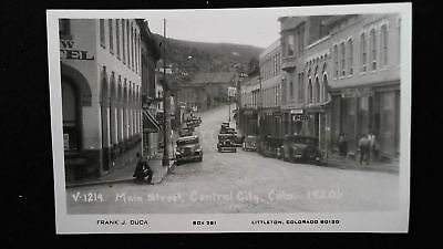 Central City Colorado CO ~ Main Street in the 1920s