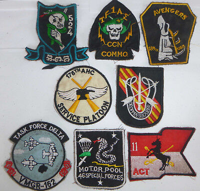 Lot 8 x PATCHES - US MILITARY - Air Cavalry - Special Forces - Vietnam War - E20