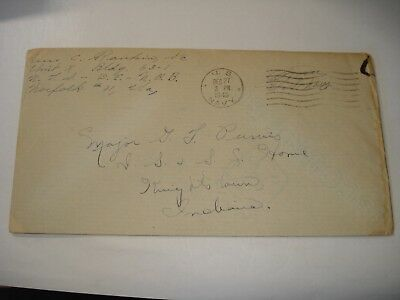 WW II COVER & LETTER US Navy NORFOLK VA Knightstown IN Indiana Soldiers & Sailor