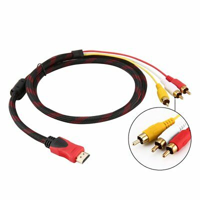 5ft HDMI Male to RCA Video Audio AV Cable Adapter for PS3 PS4 Xbox One Wii MXH