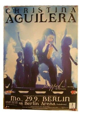 Christina Aguilera Poster German Tour Concert