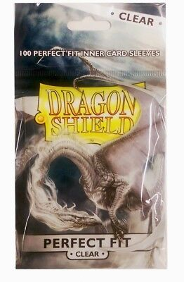 100 Dragon Shield Standard Perfect Fit Sleeves Clear/Clear (63x88mm)