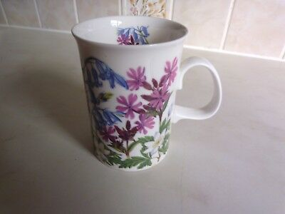 Dunoon pottery Mug  Wildflowers. Bluebell and Red Campion