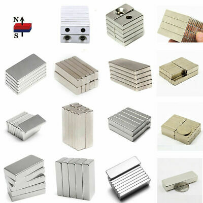 1-100PCS N50 Strong Small Block Magnets Hole Rare Earth Neodymium Fridge Magnet