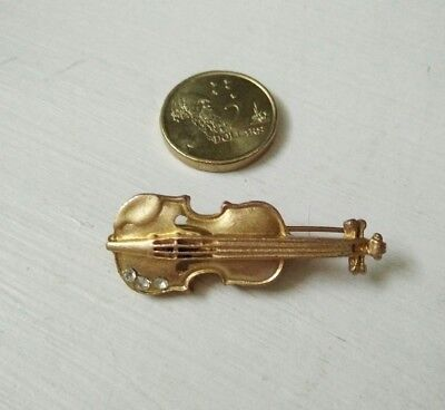 Girl lady side hair clip Violin golden  hair accessories vintage