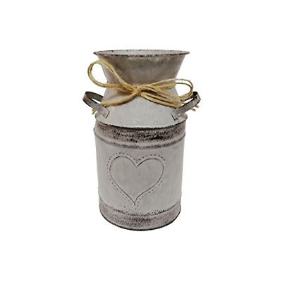 Watering Honey 7.5inch Old Fashioned Galvanized Milk Can with Heart-Shaped -