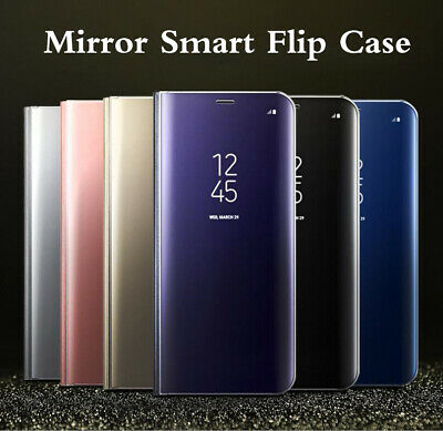 For Samsung Galaxy S7 Edge Smart View Mirror Leather Flip Stand Case Cover
