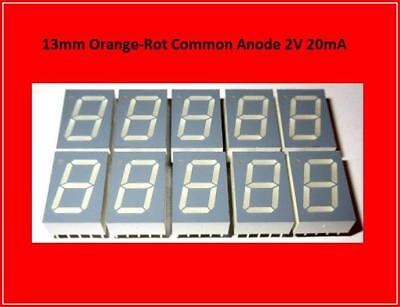 TDSO5150-LM LED Display Anzeige 7 Segment  Common Anode Orange Rot  10x