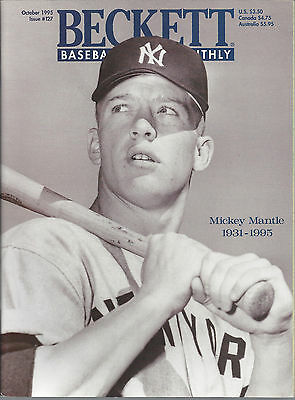 Mickey Mantle on Cover Beckett MLB Oct, 1995 Issue