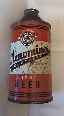 12oz Menominee Champion Light Beer Cone Top - Menominee, Mi.