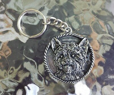 FAMILY HOUSE PET PUREBRED 2 YORKSHIRE TERRIER DOG PEWTER KEY CHAINS All New