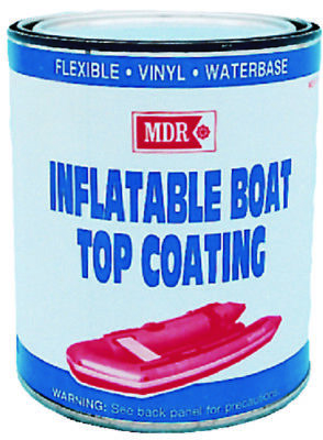MDR Marine Inflatable Boat Top Coating 1QT Light Gray Restore to Original Color