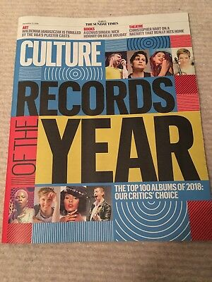 Culture Magazine  Sunday Times    9  December  2018  Top 100 Albums Of The Year