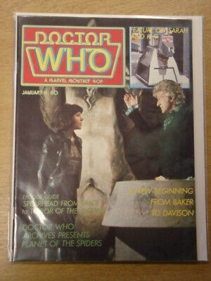 Doctor Who #60 1982 Jan British Weekly Monthly Magazine Dr Who Dalek Cybermen