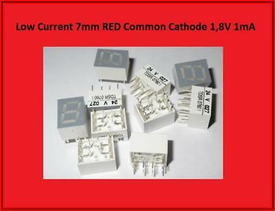 TDSR 0760 LED Display Anzeige 7 Segment  Common Cathode Rot  10x