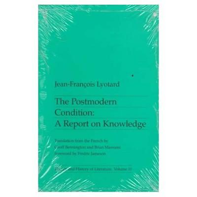 The Postmodern Condition: A Report on Knowledge (Theory - Paperback NEW Lyotard,