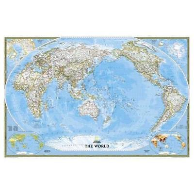 World Classic, Pacific Centered, tubed Wall Maps World: - Map NEW Maps, National