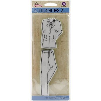 Julie Nutting Mixed Media Cling Rubber Stamps-business Casual Accessories