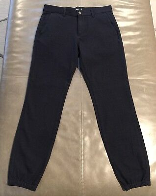 NWT Vince Mens Stretch Cotton Fleece Lined Warm Jogger Pants Navy 30 Small $225